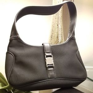 Salvatore Ferragamo Nylon Hobo Bag